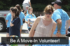 Be a move-in volunteer!